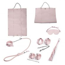 Грас. Набор для БДСМ игр BDSM-NEW PVC Bondage Set, pink